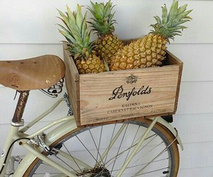 pineapple, bike, and summer image