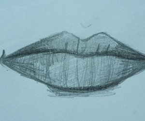 drawing, lips, and love image
