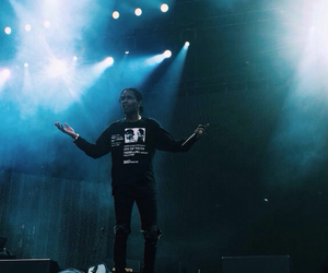 concert, rapper, and asap rocky image