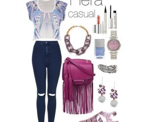 bag, eyeliner, and mascara image