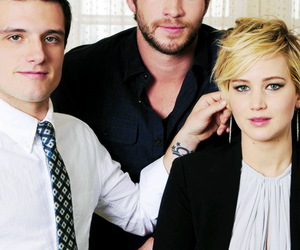 josh hutcherson, Jennifer Lawrence, and liam hemsworth image