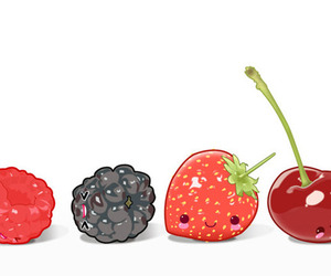 fruit, cute, and cherry image
