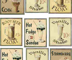 vintage, ice cream, and drink image