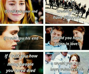 divergent, tfios, and book image