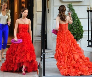 gossip girl, blair waldorf, and red dress image