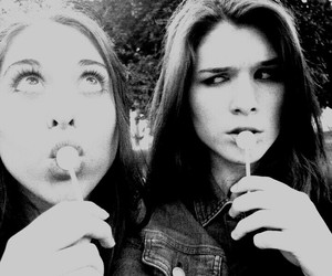 black&white, denim, and girls image