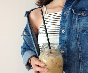fashion, grunge, and coffee image