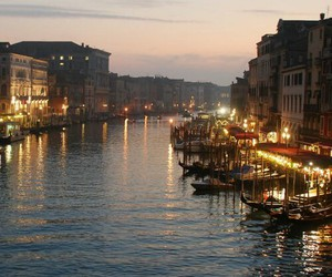 venice, lights, and river image