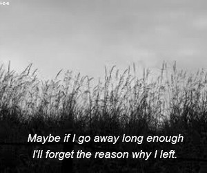 quotes, sad, and forget image