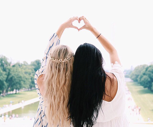 friends, hair, and friendship image