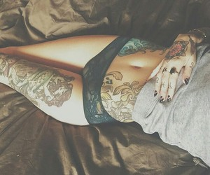 tattoo, girl, and sexy image
