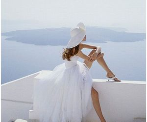 white, dress, and summer image