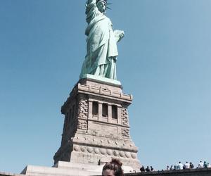 liberty, new york city, and ny image