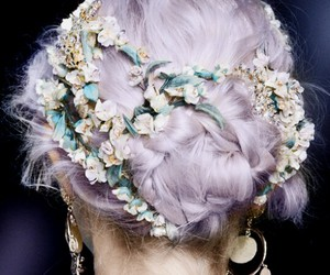 model, pastel, and purple image