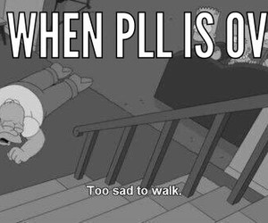 pretty little liars, pll, and simpsons image