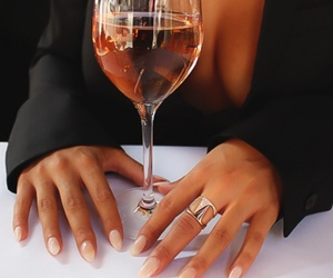 nails, drink, and wine image