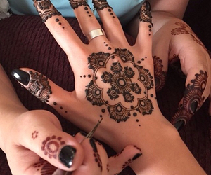 henna, henné, and mehndi image