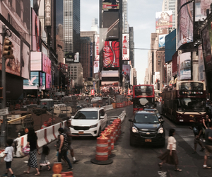 beautiful, ny, and times square image