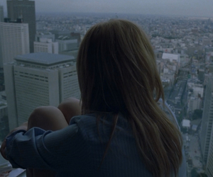 girl, city, and sad image