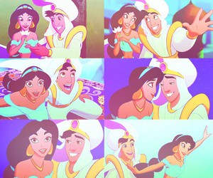 aladdin, jasmine, and disney image
