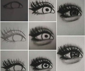 diy, drawing, and eyes image