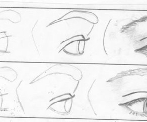 drawing, eyes, and tutorial image