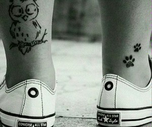 tattoo, owl, and converse image