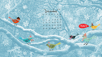 birds, trees, and december image