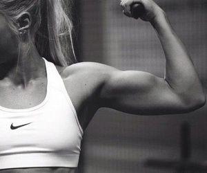 arm, girl, and gym image