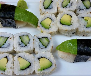avocado, cucumber, and food image