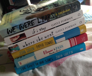 books, paper towns, and if i stay image