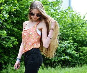 blogger, brown hair, and fashion image