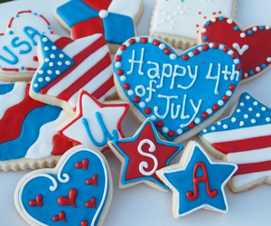 4th of july, Cookies, and america image