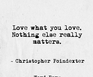 matters, nothing, and christopher poindexter image