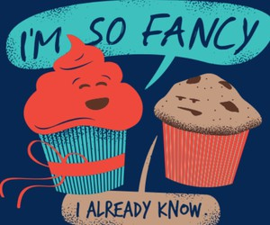 cupcake, fancy, and funny image