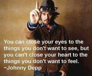 johnny depp, quotes, and heart image