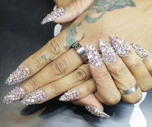 beauty, crystal, and nail art image