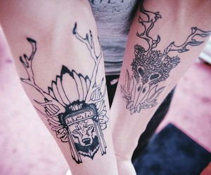 2, tattoo, and onthehands image