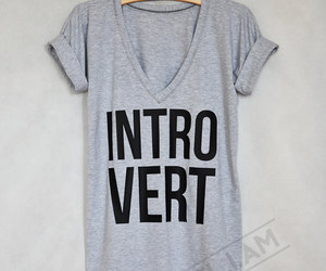 etsy, introvert, and gray image