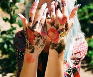 grunge, Tattoos, and hand tattoos image