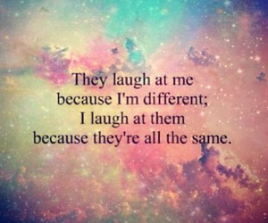 quote, be yourself, and different image