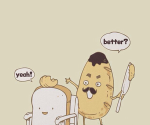 bread, funny, and butter image