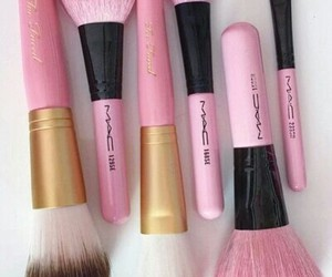 Brushes, mac, and cosmetics image