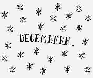 black n white, pretty, and december image