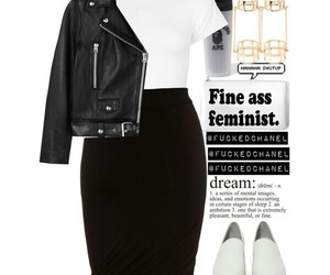 black, Polyvore, and jacket image