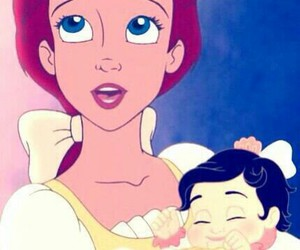 ariel, disney, and baby image