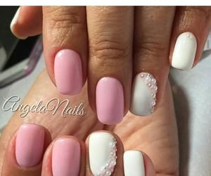 fashion, nails, and rose image