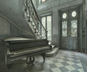 home, house, and piano image