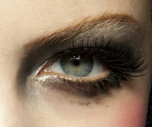 beauty, eye, and green image