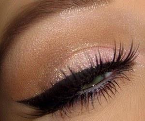eye, eyeliner, and makeup image